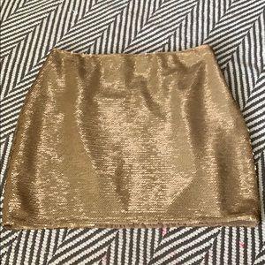 Champagne gold matte sequin mini Sz S Forever21